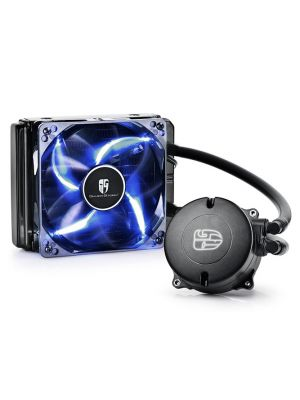 DEEPCOOL MAELSTROM 120T CPU Liquid Cooler AIO Water Cooling With 120mm PWM Fan Blue LED AM4