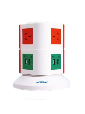 Safemore 2 Level Power Stackr Power Board in Orange and Green