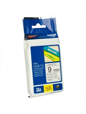 Brother Tape Consumable P-Touch 9mm Black on White TZe Tape