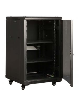 LinkBasic 18RU 800mm Depth Server Rack Mesh Door with 4x240v Fans and 8-Port 10A PDU