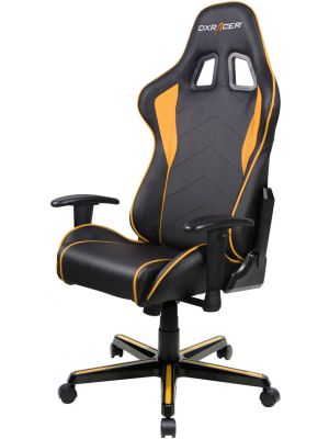 DXRacer Formula FL08 Gaming Chair - Sparco Style Neck/Lumbar Support Black & Orange