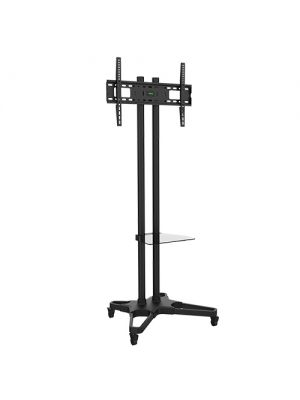 Brateck Portable TV Cart with Roller for LCD Screen Size 37' – 70'