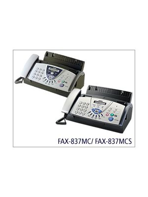 Brother Fax 837MCS with Plain Paper Fax, Digital Answering Machine, Plain Paper Copier, Telephone Handset