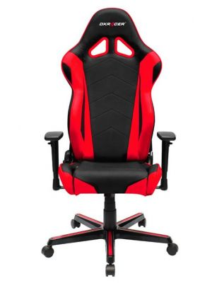 DXRacer Racing RZ0 Gaming Chair - Neck/Lumbar Support Black & Red