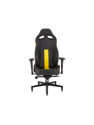 CORSAIR T2 ROAD WARRIOR, High Back Desk and Office Chair, Black/Yellow, 2 Year Warranty. (LS)