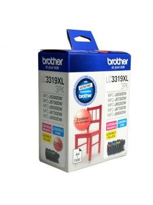 Brother LC-3319XL  Colour Value Pack 1X Cyan 1X Magenta 1X Yellow-MFC-J5330DW/J5730DW/J6530DW/J6730DW/J6930DW - up to 3000 P