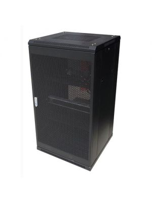 LinkBasic 22RU 800mm Depth Server Rack Mesh Door with 4x240v Fans and 8-Port 10A PDU