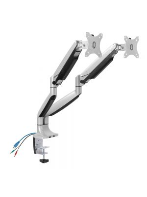 Brateck Dual Aluminum Interactive Counterbalance Monitor Arm with USB for 13''-32'' LCD Monitors