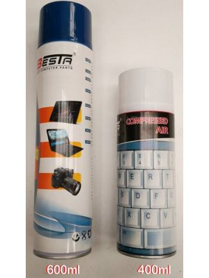 Powertek Air Duster 400ml for Cleaning Keyboards PCs Laptops and Other Equipments