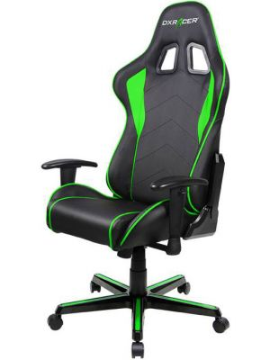 DXRacer Formula FL08 Gaming Chair - Sparco Style Neck/Lumbar Support Black & Green