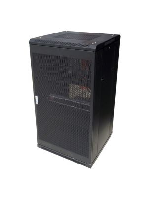 LinkBasic 22RU 600mm Depth Server Rack Mesh Door with 2x240v Fans and 8-Port 10A PDU