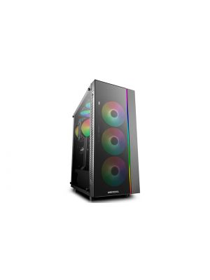 Deepcool MATREXX 55 ARGB 3F Full Sized Tempered Glass Case, Includes 3 Preinstalled RGB Fans, Supports E-ATX