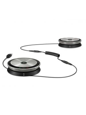 Sennheiser High-end, daisy-chain UC speakerphone for medium-to-large meeting rooms, includes two SP 20 D UC speakerphones, adapter cable.