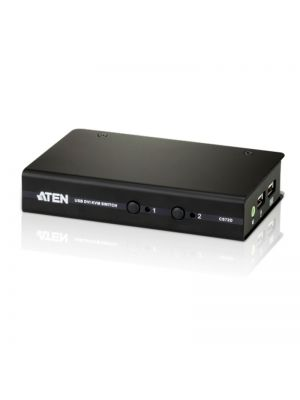 Aten 2-Port USB DVI KVM Switch - Cables Included