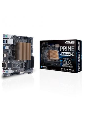 ASUS PRIME J3355I-C Intel Celeron Dual-Core SoC fanless microATX Motherboard with 5X Protection HDMI VGA SATA 6G